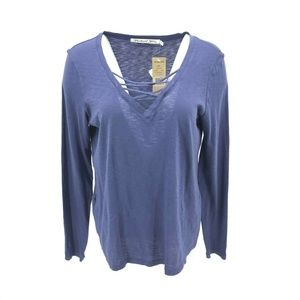 Michael Stars Long Sleeve Lace Up Shirt One Sz NWT